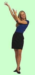 Girl in welcome pose for home based business opportunities.